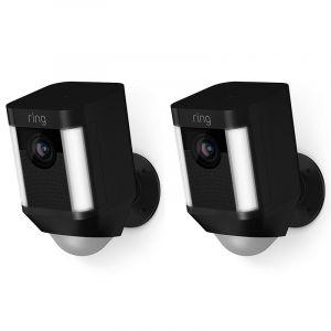 Ring Spotlight Cam Batterij Zwart 2 Pack