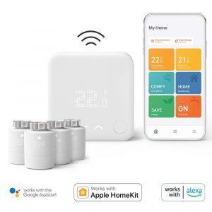 Tado Smart Thermostat V3+ starterpack (Draadloos) + 4 Radiatorknoppen